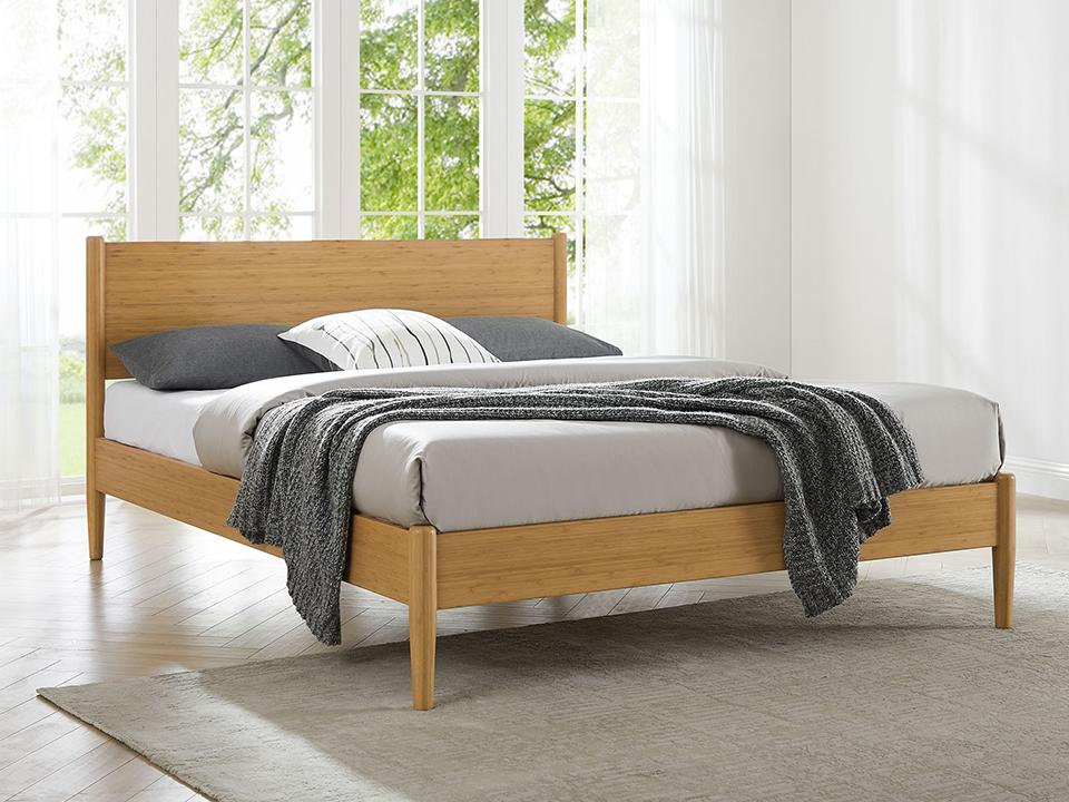 Eco Ridge by Greenington Modern and Sustainable Ria Queen Bamboo Platform Bed in Caramelized Finish