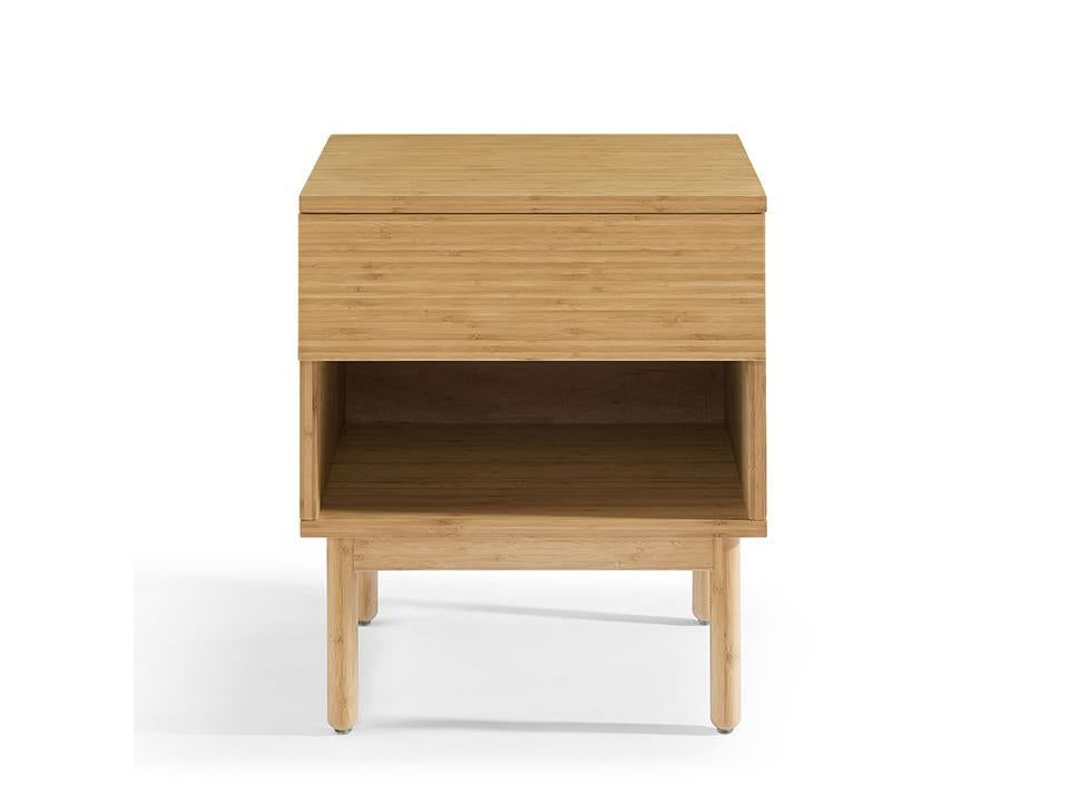 Eco Ridge by Greenington Modern and Sustainable Ria Bamboo Bedroom 1 Drawer Nightstand in Caramelized Finish
