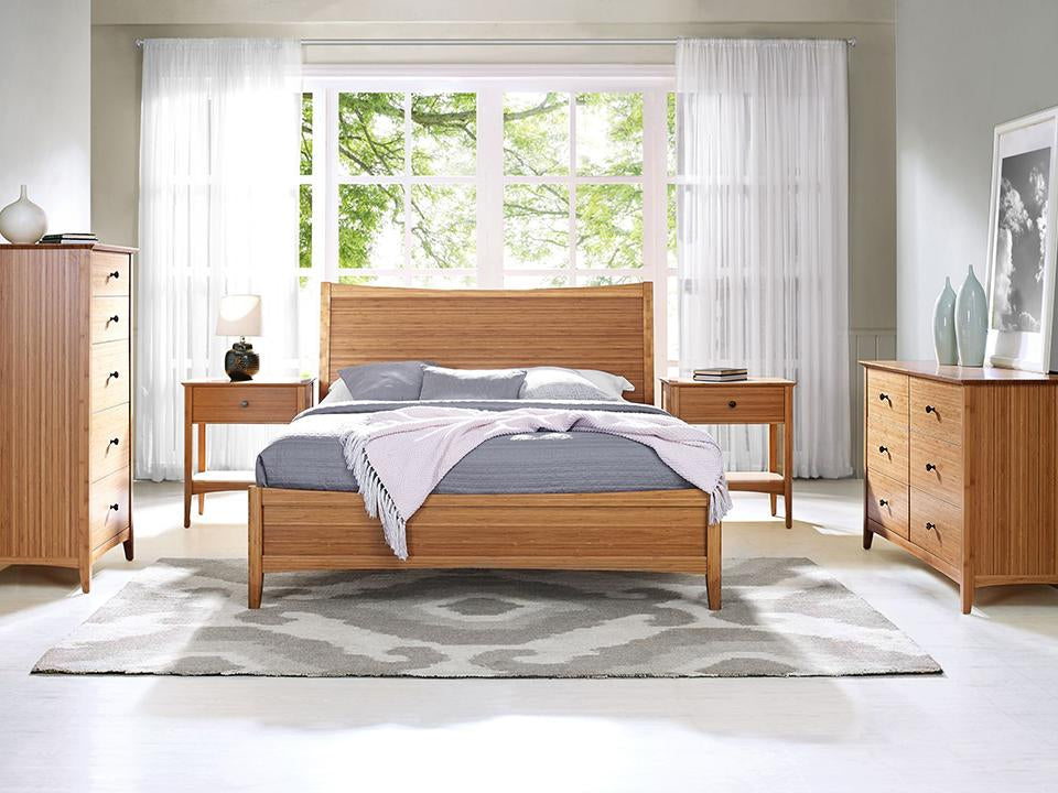 Eco Ridge by Greenington Modern and Sustainable Willow Queen Bamboo Platform Bed in Caramelized Finish