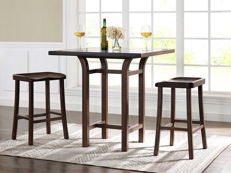 Greenington's Modern and Sustainable Tulip Solid Bamboo Counter Height Table in Black Walnut Finish