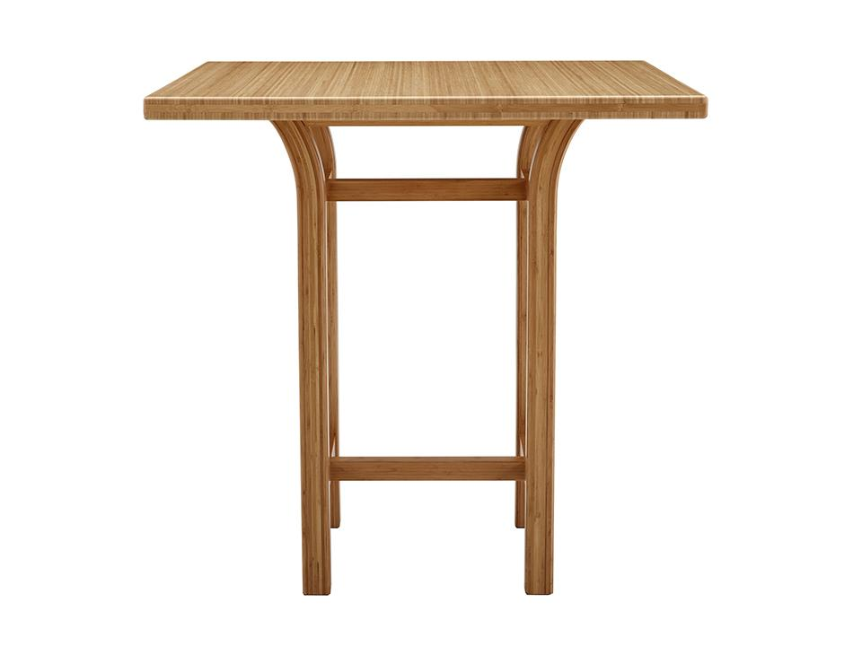 Greenington's Modern and Sustainable Tulip Solid Bamboo Counter Height Table in Caramelized Finish