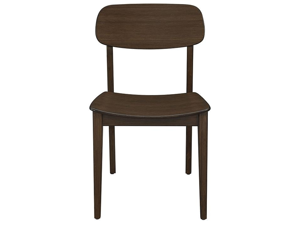 Greenington's Modern and Sustainable Currant Solid Bamboo Dining Chair in Black Walnut Finish