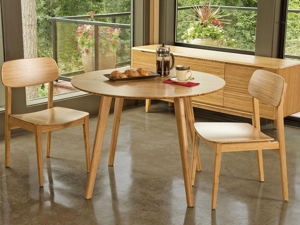 Greenington's Modern and Sustainable Currant Solid Bamboo Dining Chair in Caramelized Finish