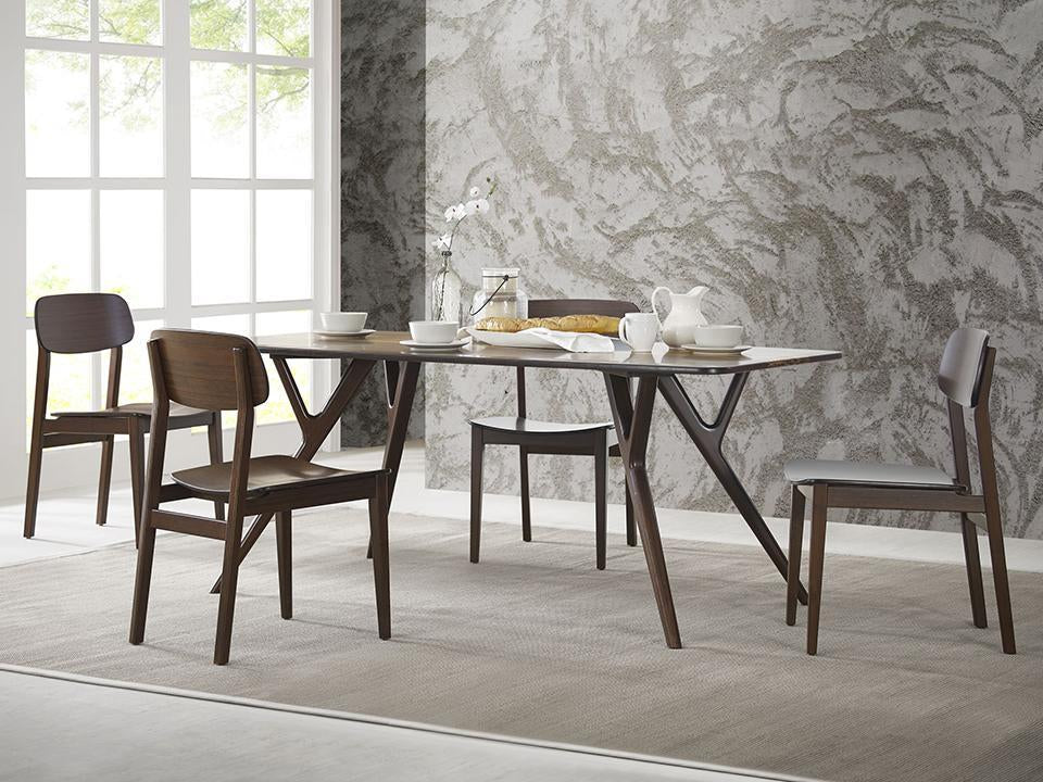 Greenington's Modern and Sustainable Currant Solid Bamboo Dining Chair in Sable Finish