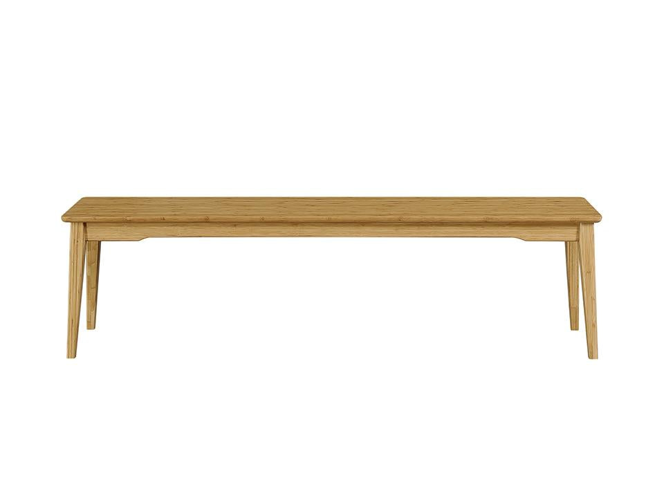 Greenington's Modern and Sustainable Currant Solid Bamboo Dining Long Bench in Caramelized Finish
