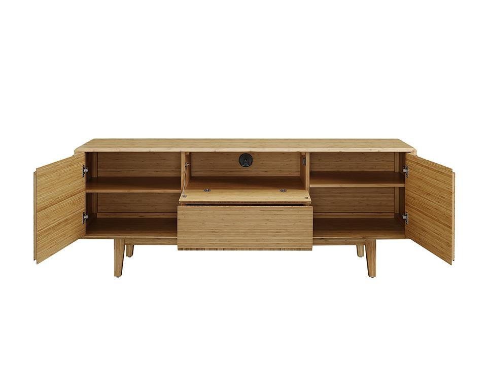Greenington's Modern and Sustainable Currant Solid Bamboo Dining Sideboard Buffet Media Center in Caramelized Finish