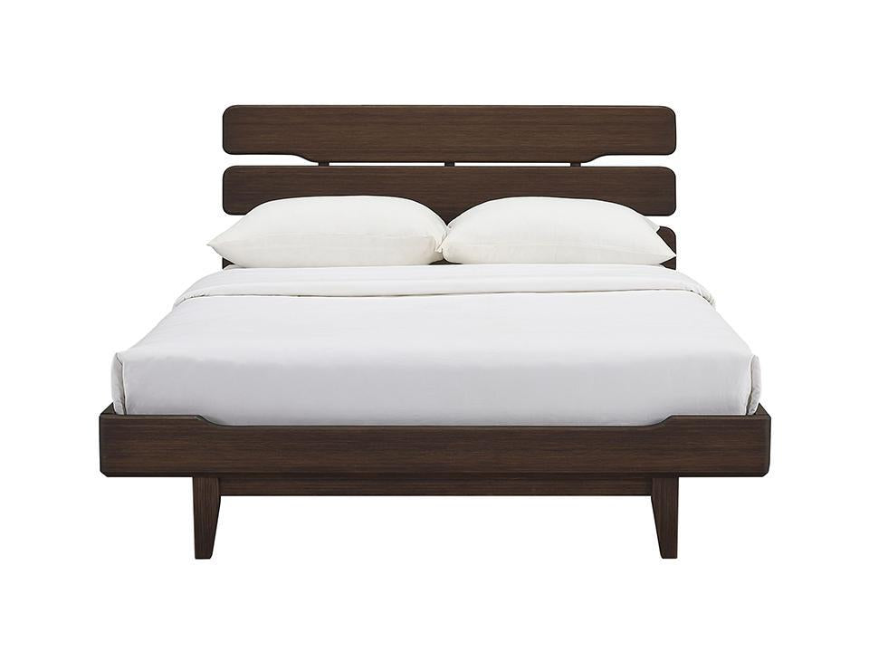 Greenington's Modern and Sustainable Currant California King Solid Bamboo Platform Bed in Caramelized Finish