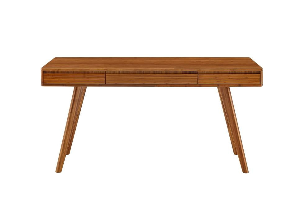 Greenington Currant Writing Desk in Solid Amber Bamboo
