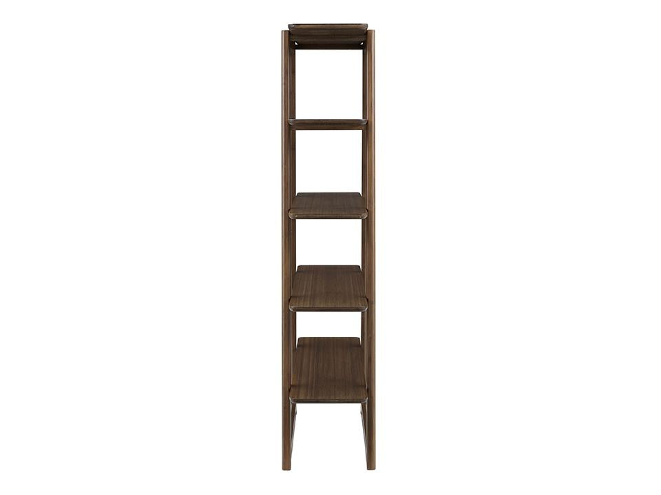 Greenington's Modern and Sustainable Currant Solid Bamboo Shelf Bookshelf in Black Walnut Finish