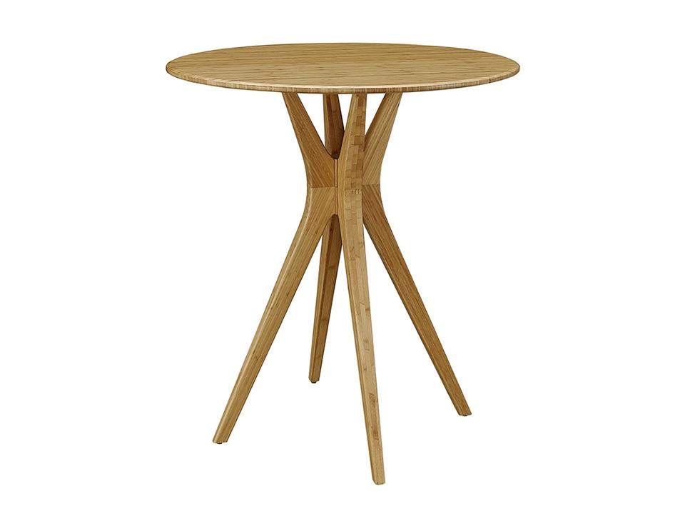 Greenington's Modern and Sustainable Mimosa Solid Bamboo Bar Height Table in Caramelized Finish