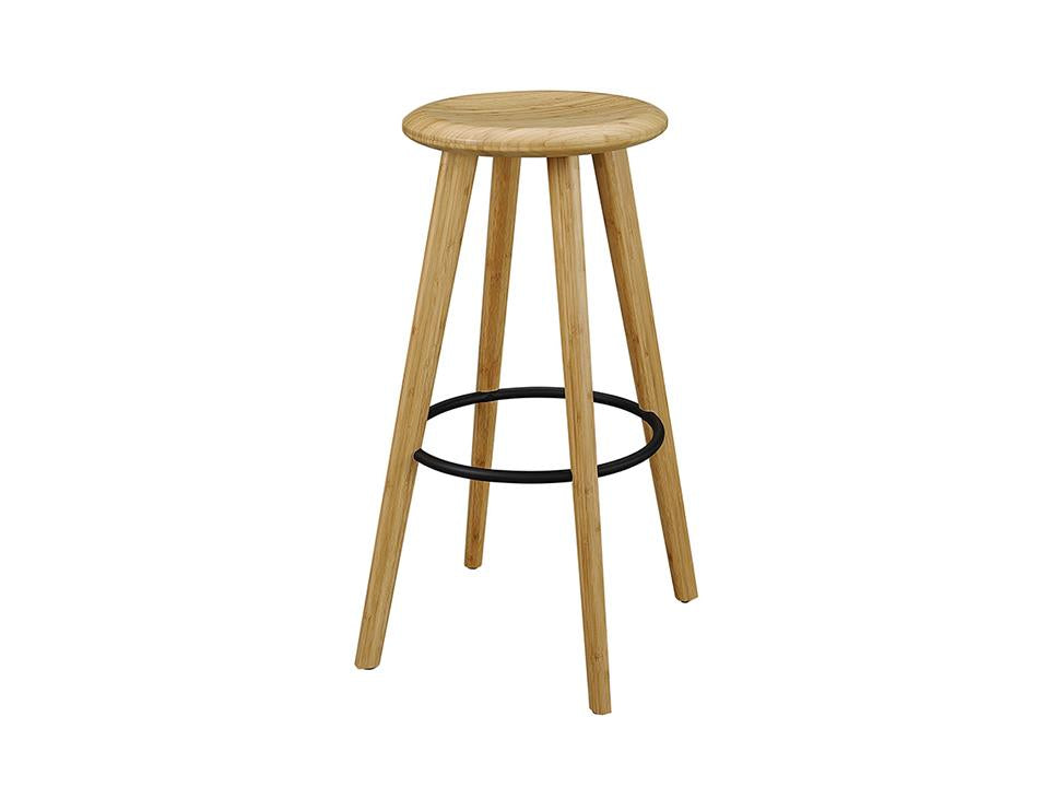 Greenington's Modern and Sustainable Mimosa Solid Bamboo Bar Height Stool in Caramelized Finish