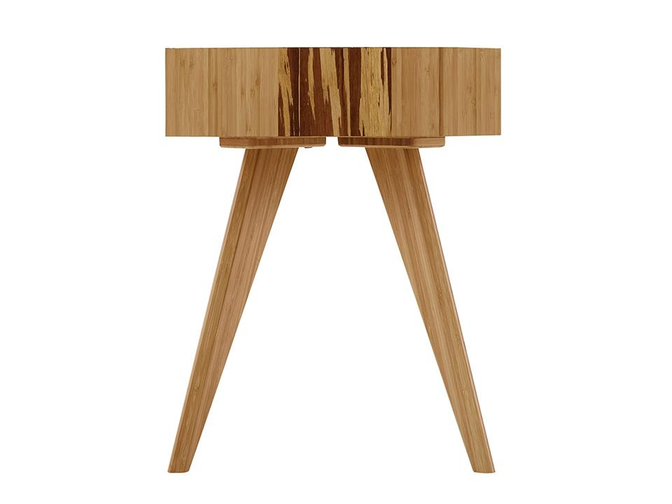 Greenington's Modern and Sustainable Azara Solid Bamboo Occasional End Table in Caramelized Finish with Exotic Tiger Accent