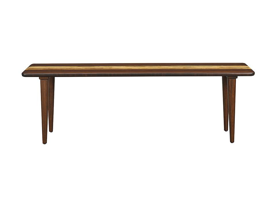 Greenington's Modern and Sustainable Azara Solid Bamboo Bench in Sable Finish with Exotic Tiger Accent