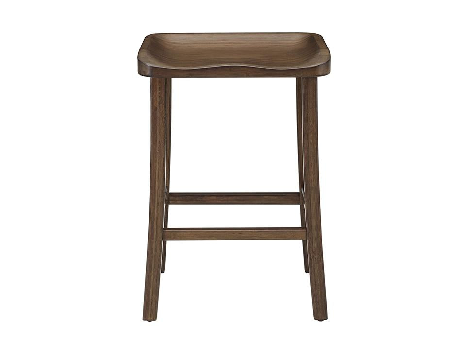 Greenington's Modern and Sustainable Tulip Solid Bamboo Counter Height Stool in Black Walnut Finish