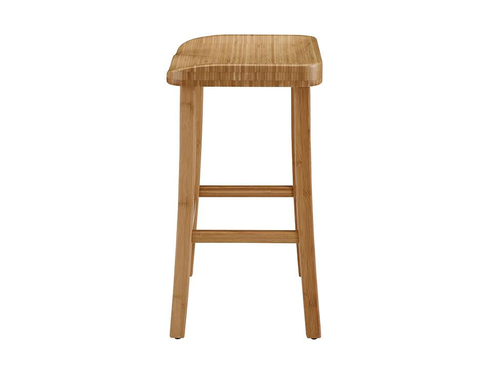 Greenington's Modern and Sustainable Tulip Solid Bamboo Counter Height Stool in Caramelized Finish