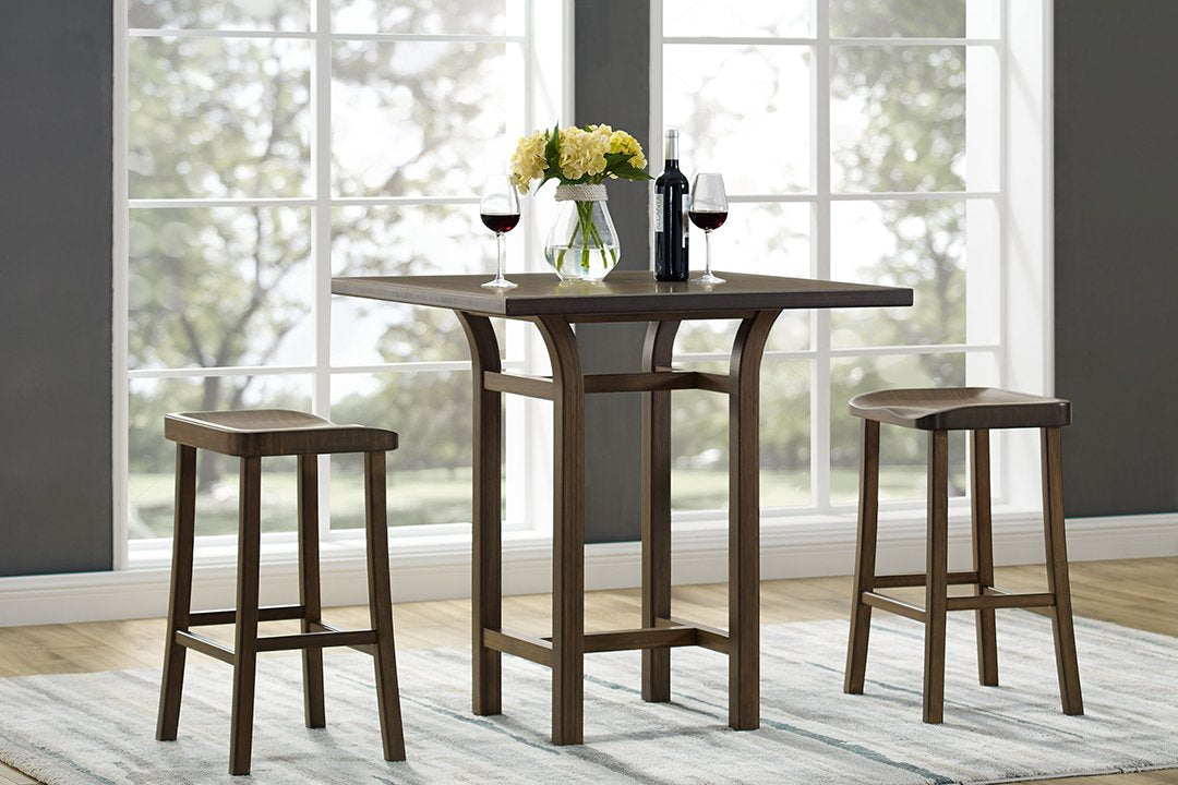 Greenington's Modern and Sustainable Tulip Solid Bamboo Bar Height Stool in Black Walnut Finish