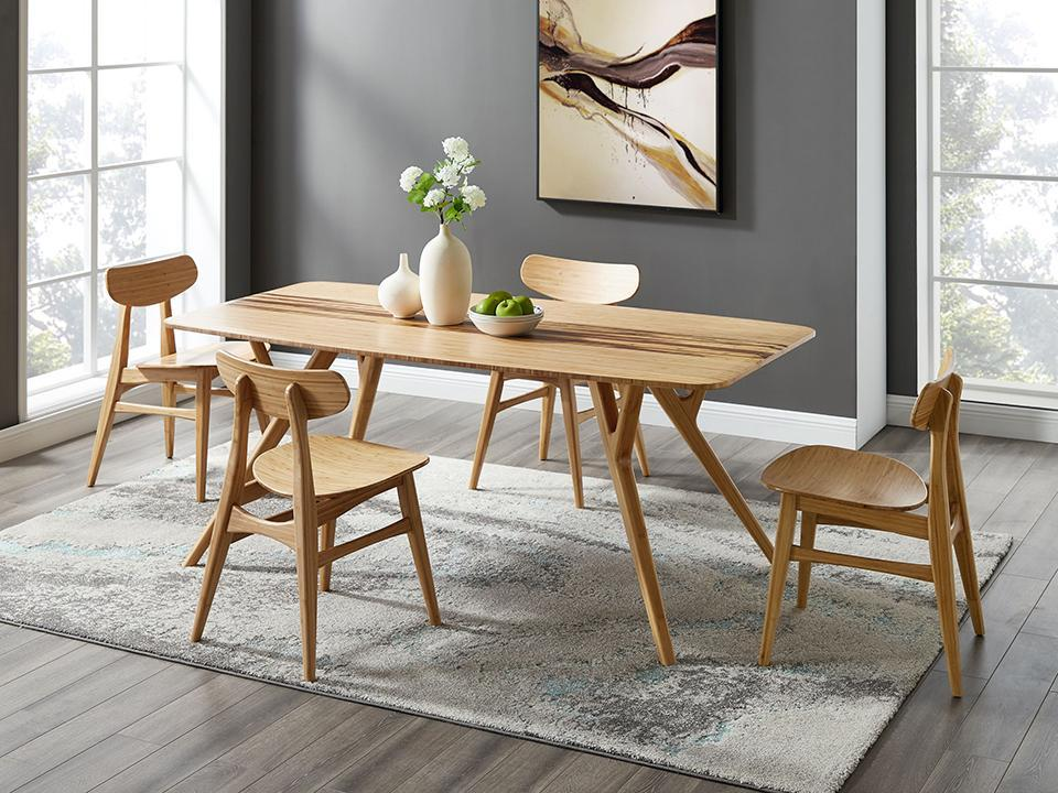 Greenington's Modern and Sustainable Cassia Solid Bamboo Dining Chair in Caramelized Finish