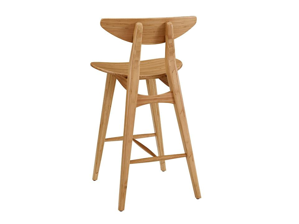 Greenington's Modern and Sustainable Cosmos Solid Bamboo Bar Height Stool in Caramelized Finish
