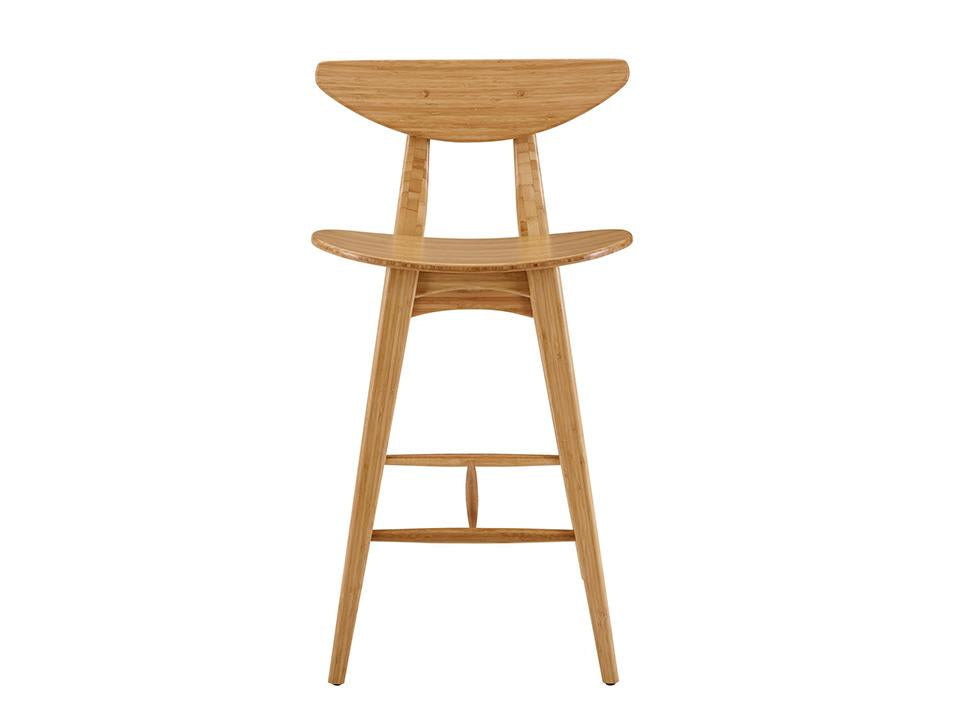 Greenington's Modern and Sustainable Cosmos Solid Bamboo Counter Height Stool in Caramelized Finish