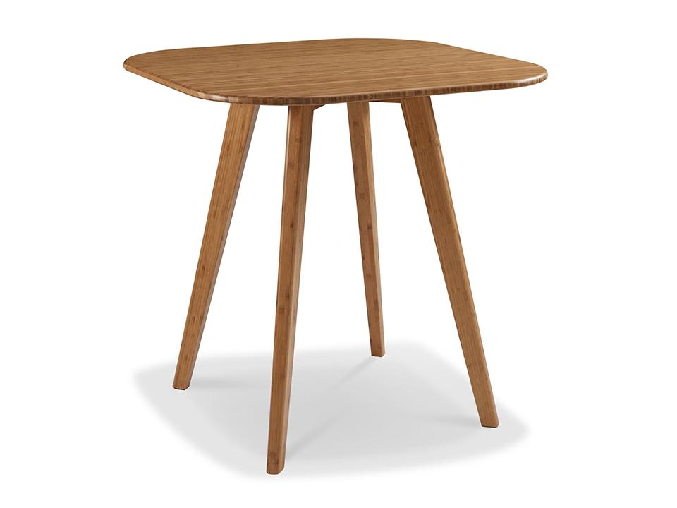 Greenington's Modern and Sustainable Cosmos Solid Bamboo Counter Height Table in Caramelized Finish