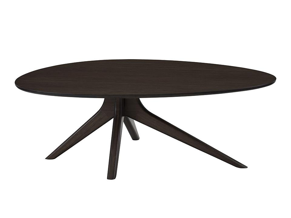 Greenington's Modern and Sustainable Rosemary Solid Bamboo Occasional Coffee Table in Black Walnut Finish