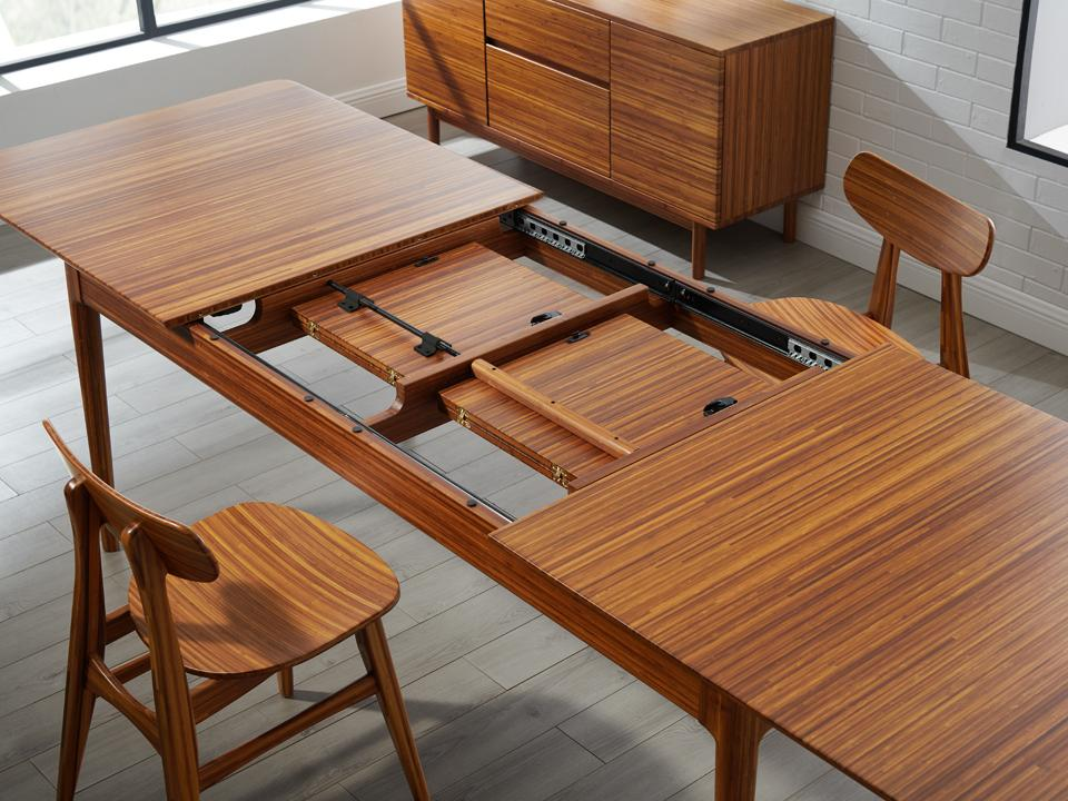 Greenington Erikka Dining Table in Solid Amber Bamboo