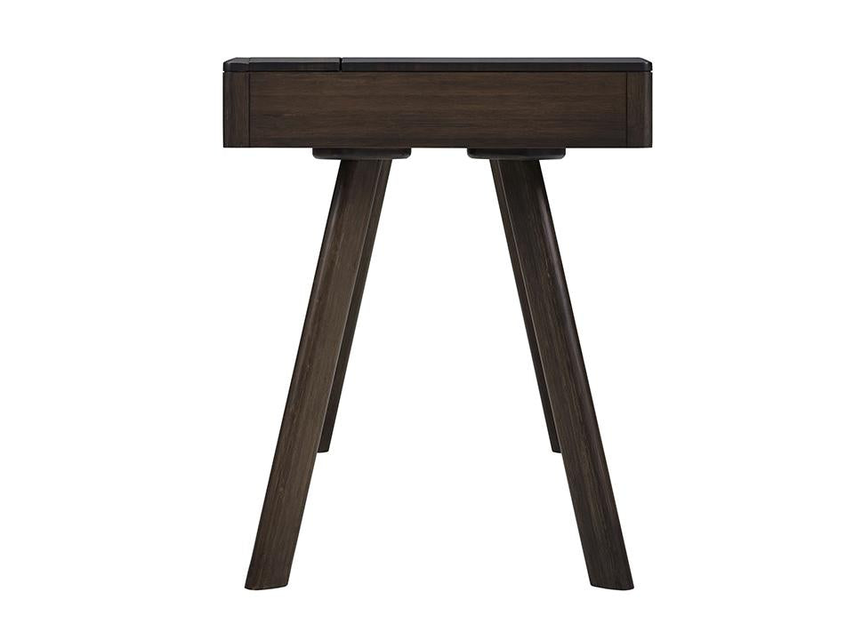 Greenington's Modern and Sustainable Jasmine Solid Bamboo 2 Drawer Writing Desk in Havana Finish