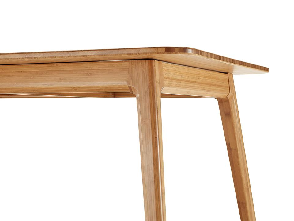 Greenington's Modern and Sustainable Laurel Solid Bamboo Extension Dining Table in Caramelized Finish