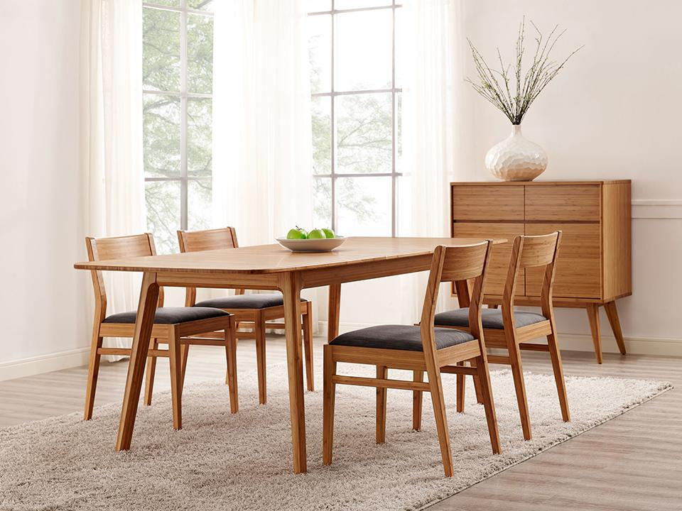 Greenington's Modern and Sustainable Laurel Solid Bamboo Dining Chair in Caramelized Finish