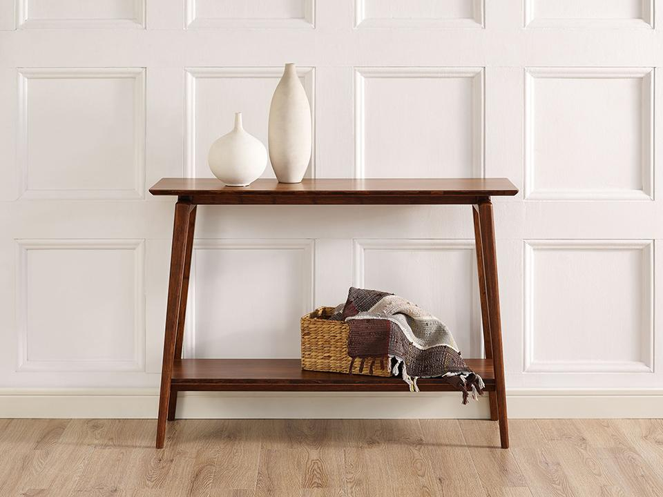 Greenington's Modern and Sustainable Antares Solid Bamboo Occasional Console Table in Exotic Finish