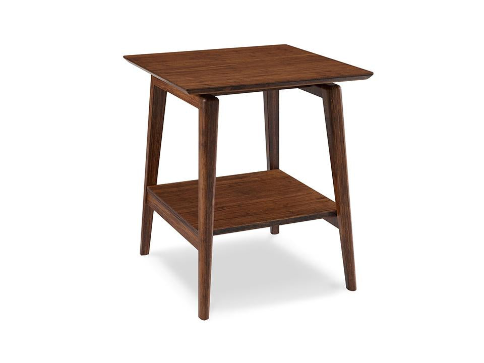 Greenington's Modern and Sustainable Antares Solid Bamboo Occasional End Table in Exotic Finish