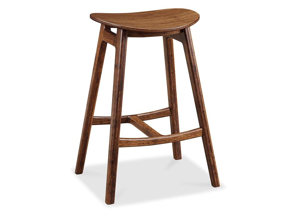 Greenington's Modern and Sustainable Skol Solid Bamboo Bar Height Stool in Exotic Finish