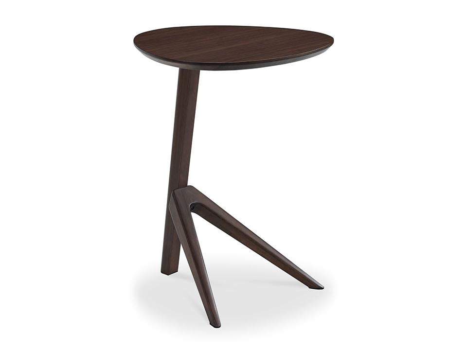 Greenington's Modern and Sustainable Rosemary Solid Bamboo Occasional End Table in Black Walnut Finish