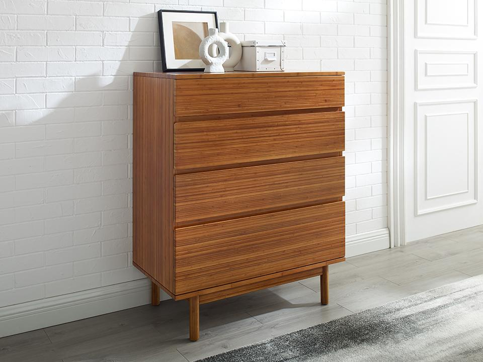 Greenington's Modern and Sustainable Ventura Solid Bamboo High Chest