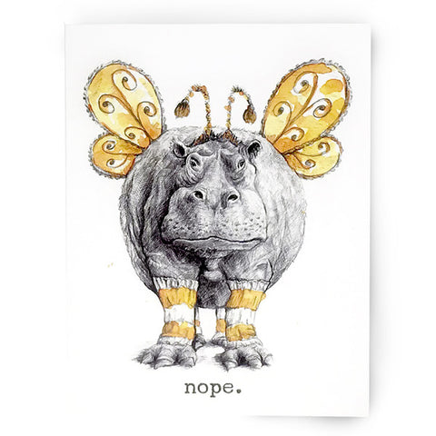 Nope Hippo Card