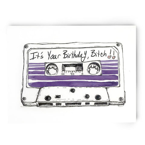 90s Birthday Cassette Card