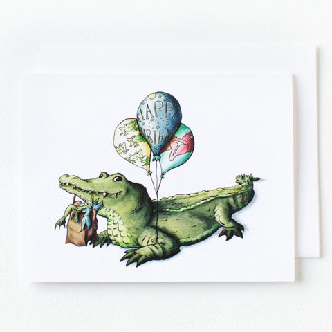 Alligator Birthday Card - Box of 8