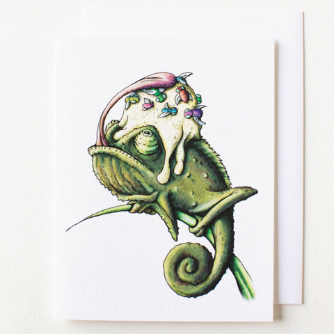 Chameleon Birthday Card - Box of 8
