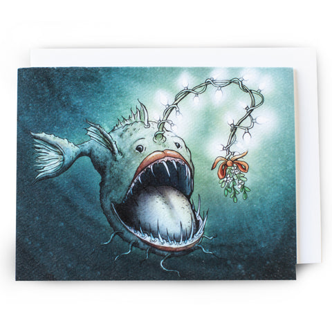 Angler Fish Christmas Card - Box of 8