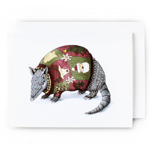 Armadillo Christmas Card