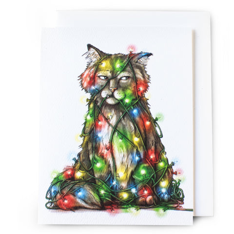Cat Christmas Card - Box of 8