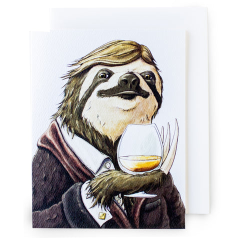 Sloth Happy Hour Card (All Occasion) - Box of 8
