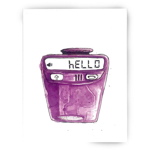 90s Retro Motorola Pager Hello Card