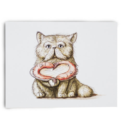 Cat LOVE Note Card
