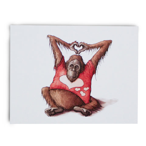Orangutan LOVE Note Card - Box of 8