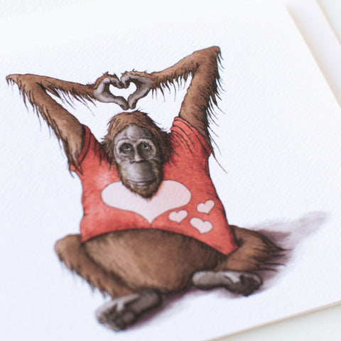 Orangutan LOVE Note Card