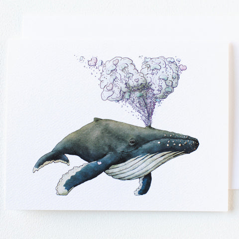 Whale LOVE Note Card - Box of 8