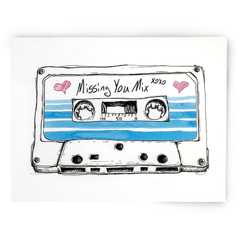 90s Missing You Cassette Card
