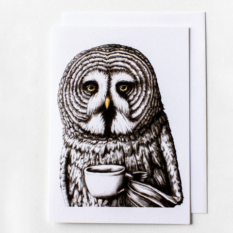 Mornin' Owl 5x7 Frameable Art Card