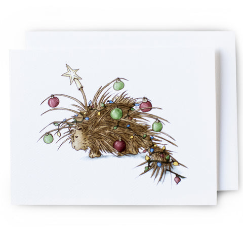 Porcupine Christmas Card - Box of 8